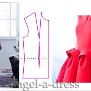 моделирование красного платья Del Pozo