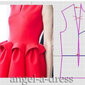 моделирование красного платья Del Pozo2