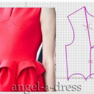 моделирование красного платья Del Pozo3