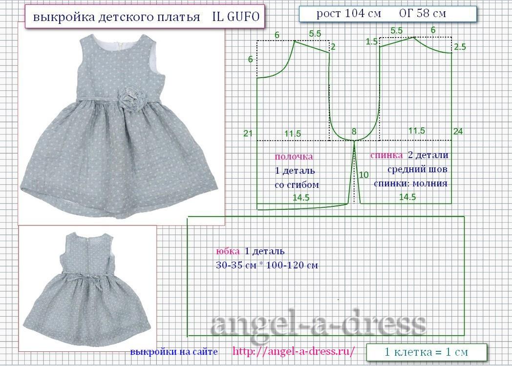 Выкройка детского платья 104