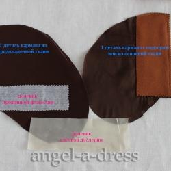 детали обтачного кармана