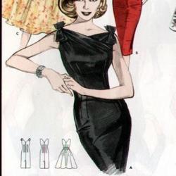 моделирование платьев ретро