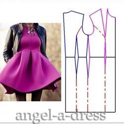 моделирование платья из неопрена
