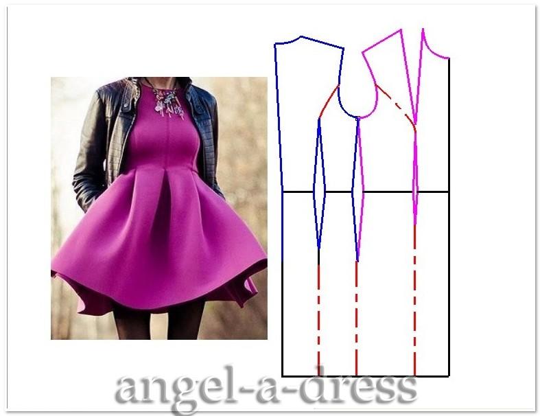 Моделирование полочки платья