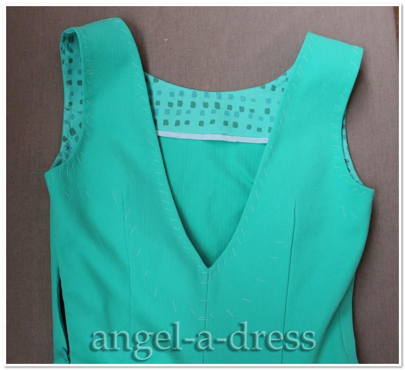цельнокроенная обтачка в платье Творческая мастерская Ангел А