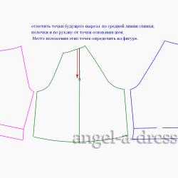 платье с открытыми плечами моделирование