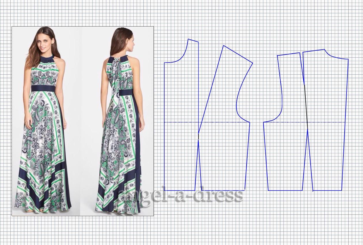 Выкройки для платьев в картинках для фото 421