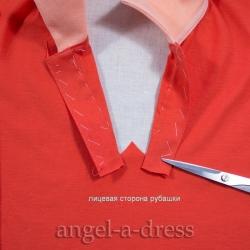 шитьё застежки поло