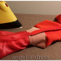 разутюжить шов рукава