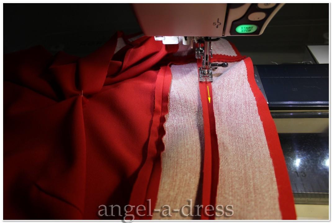 Как отстрочить юбку