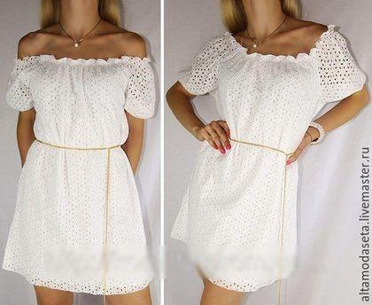 Сшить летнее платье с открытым плечом