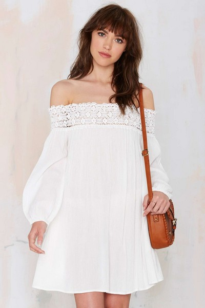 Выкройка платья на резинке с рукавами