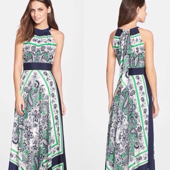 Выкройка платья на завязках на шее