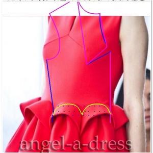 моделирование красного платья Del Pozo1
