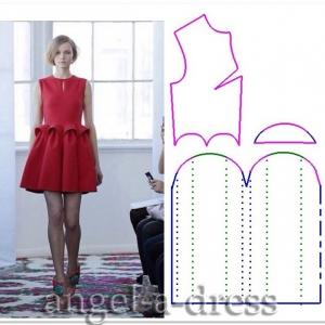 моделирование красного платья Del Pozo4