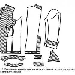 дублирование деталей одежды