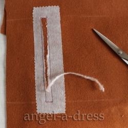 долевик обтачного кармана