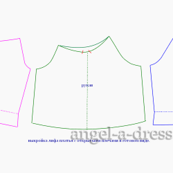 моделирование платья с открытыми плечами