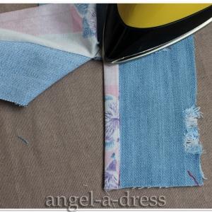 обработка шлицы рукава мужской рубашки