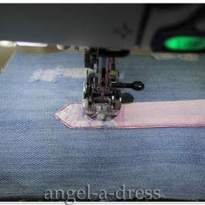 обработка разреза рукава в блузке